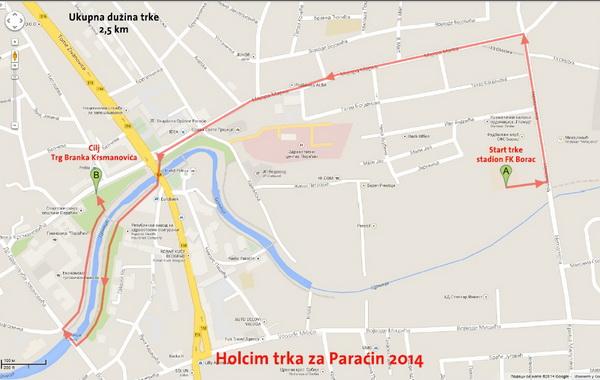 mapa paracina trk za paracin mapa1 | Info centrala mapa paracina